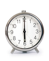 Alarm Clock, showing six o'clock