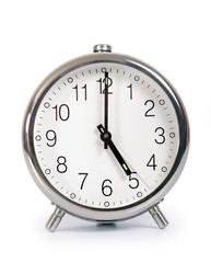 Alarm Clock, showing five o'clock