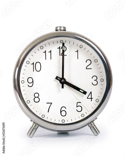 Alarm Clock, showing four o'clock