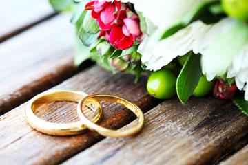 Hochzeit | Eheringe | Hochzeitsstrauß