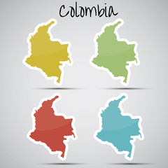 stickers in form of Colombia