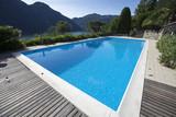 Fototapety giardino con piscina