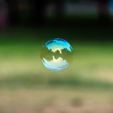 Soap bubble flying - 53676628