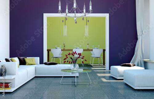 Wohn- und Esszimmer modern