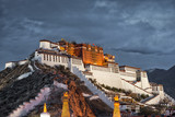 Potala Palace on cloudy day ( photo taken in the evening )