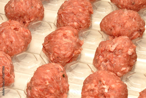 Raw Pork Meatballs