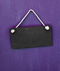 blackboard hanging on the door