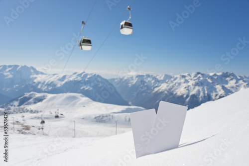 Ski lift pass and panorama