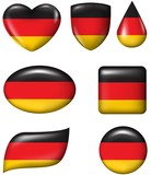 Germany Flag in various shape glossy button