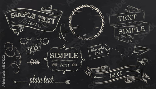 Chalk design elements