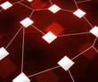 Red Web Network Image Background