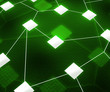 Green Web Network Image Background