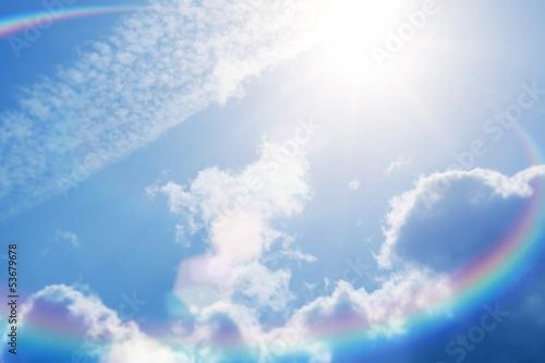 sun flare bright sky