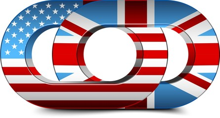 USA & UK flag chains