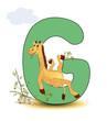 Alphabet, G Giraffe