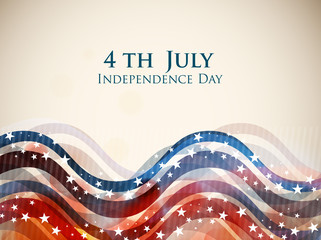 4th of July, American Independence Day background.
