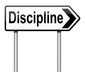 Discipline concept.