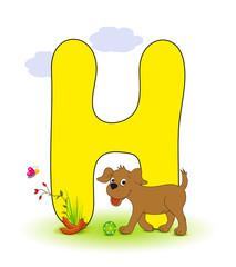 Alphabet, H Hund