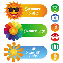 Vector set with summer design elements