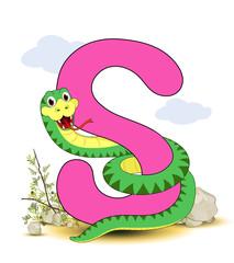 Alphabet, S Schlange