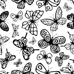 Butterflies background.