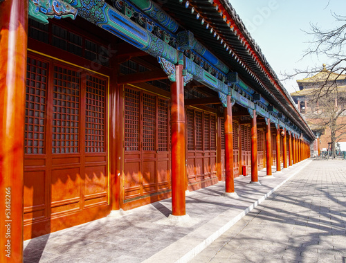 Chinese style building in Forbidden City
