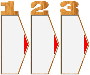 Wooden Banners with Three Options