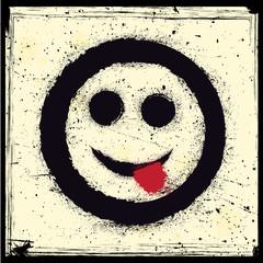 Grunge emoticon