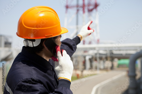 Chemical industrial engineer on location