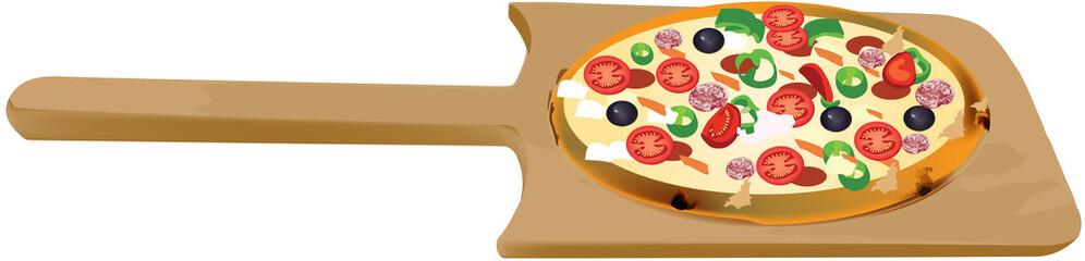 pala in faggio per pizza
