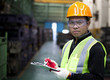 Portrait of asian industrial engineer inspection
