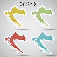 stickers in form of Croatia