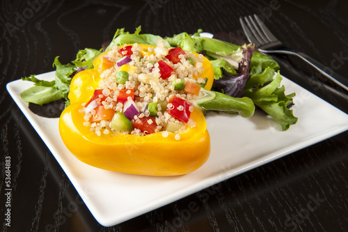 Stuffed Yellow Pepper with Salad