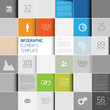 Vector abstract squares background illustration / infographic