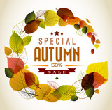 Fototapety Autumn abstract floral background