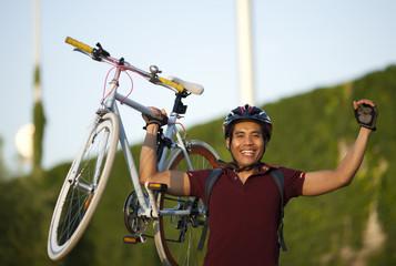 man cyclist