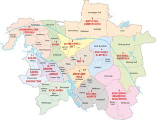 Hannover, Stadtbezirk, Stadtteil