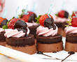 Dessert - Chocolate Cake with Fresh Strawberry