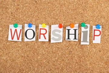 Worship on a Notice Board