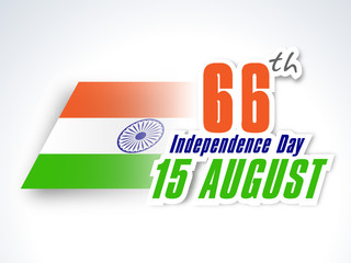 66th Indian Independence Day background with text 15th August an