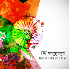 Indian Independence Day national flag colors background with Ash