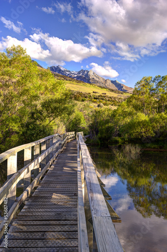 The view of the mountains at Glenorchy, New Zealand