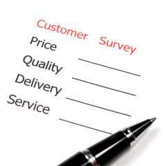 satisfaction survey showing marketing concept