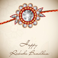 Indian festival Raksha Bandhan background with beautiful rakhi a