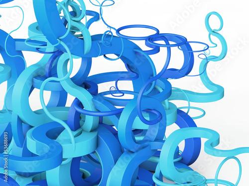 niebieski-streszczenie