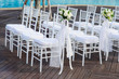 White wedding chair and flower - 53688830