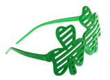 St. Patrick's Funky Clover Striped Sunglasses