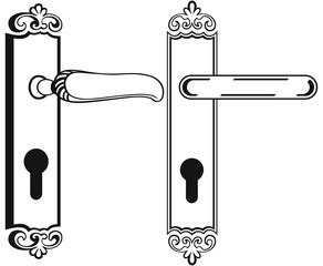 Door handle. Symbol