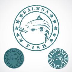 Salmon fish stamp