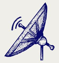 Radar. Doodle style